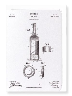 Ezen Designs - Patent of bottle (1906) - Greeting Card - Front
