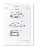 Ezen Designs - Patent of automobile (1964) - Greeting Card - Front
