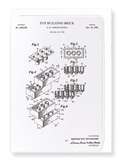 Ezen Designs - Patent of toy building brick (1961) - Greeting Card - Front