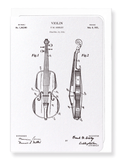Ezen Designs - Patent of violin (1921) - Greeting Card - Front