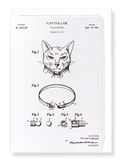 Ezen Designs - Patent of cat collar (1952) - Greeting Card - Front