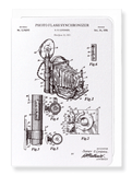 Ezen Designs - Patent of photo flash synchroniser (1939) - Greeting Card - Front