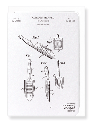 Ezen Designs - Patent of trowel (1929) - Greeting Card - Front