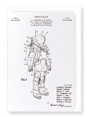 Ezen Designs - Patent of spacesuit (1980) - Greeting Card - Front