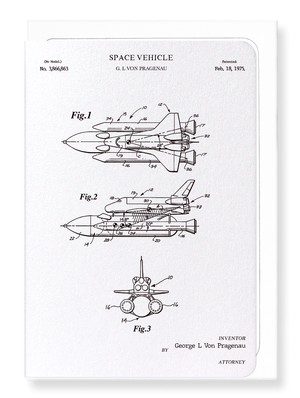 Ezen Designs - Patent of space vehicle (1975) - Greeting Card - Front