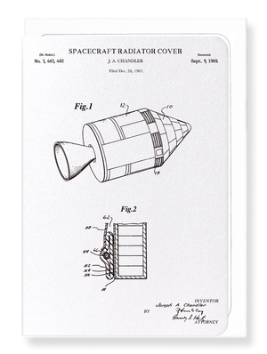 Ezen Designs - Patent of spacecraft Radiator Cover (1969) - Greeting Card - Front