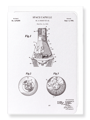 Ezen Designs - Patent of space capsule (1966) - Greeting Card - Front