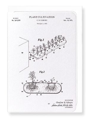 Ezen Designs - Patent of plant cultivation (1971) - Greeting Card - Front