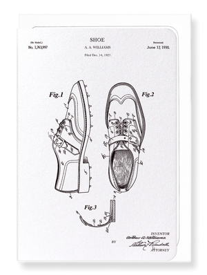 Ezen Designs - Patent of golf shoes (1930) - Greeting Card - Front