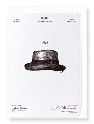 Ezen Designs - Patent of hats (1873) - Greeting Card - Front