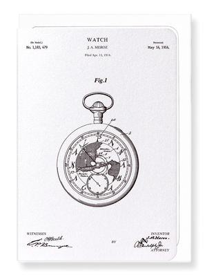 Ezen Designs - Patent of watch (1916) - Greeting Card - Front