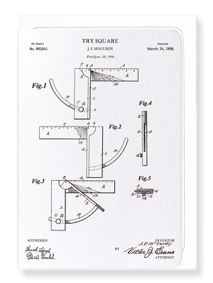 Ezen Designs - Patent of try square (1908) - Greeting Card - Front