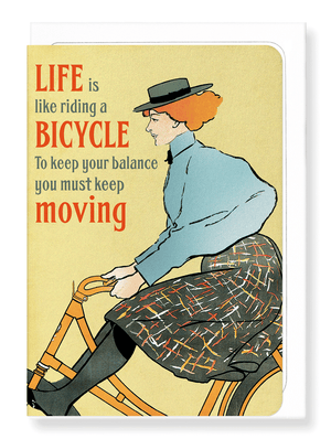 Ezen Designs - Life is like riding - Greeting card - Front