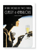 Ezen Designs - Classy and fabulous - Greeting Card - Front