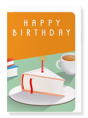 Ezen Designs - Slice of birthday book - Greeting Card - Front