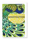 Ezen Designs - Congratulations peacock - Greeting Card - Front