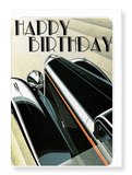 Ezen Designs - Birthday car - Greeting Card - Front