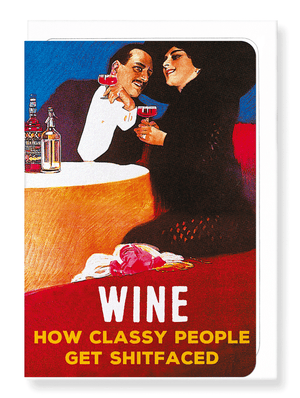 Ezen Designs - Classy wine - Greeting card - Front