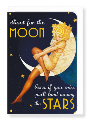 Ezen Designs - Shoot for the moon - Greeting card - Front