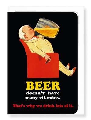 Ezen Designs - Drink lots of beer - Greeting card - Front