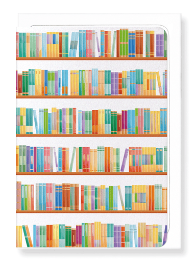 Ezen Designs - Rainbow library - Greeting Card - Front