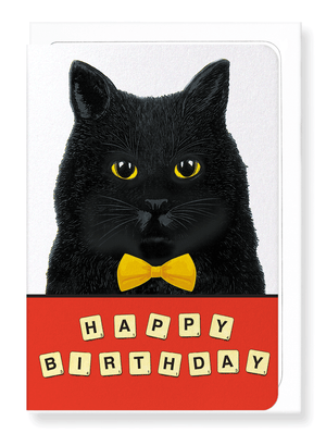 Birthday scrabble cat