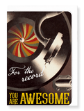 Ezen Designs - For the record - Greeting Card - Front