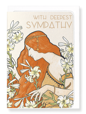 Ezen Designs - Sympathy of lilies - Greeting card - Front