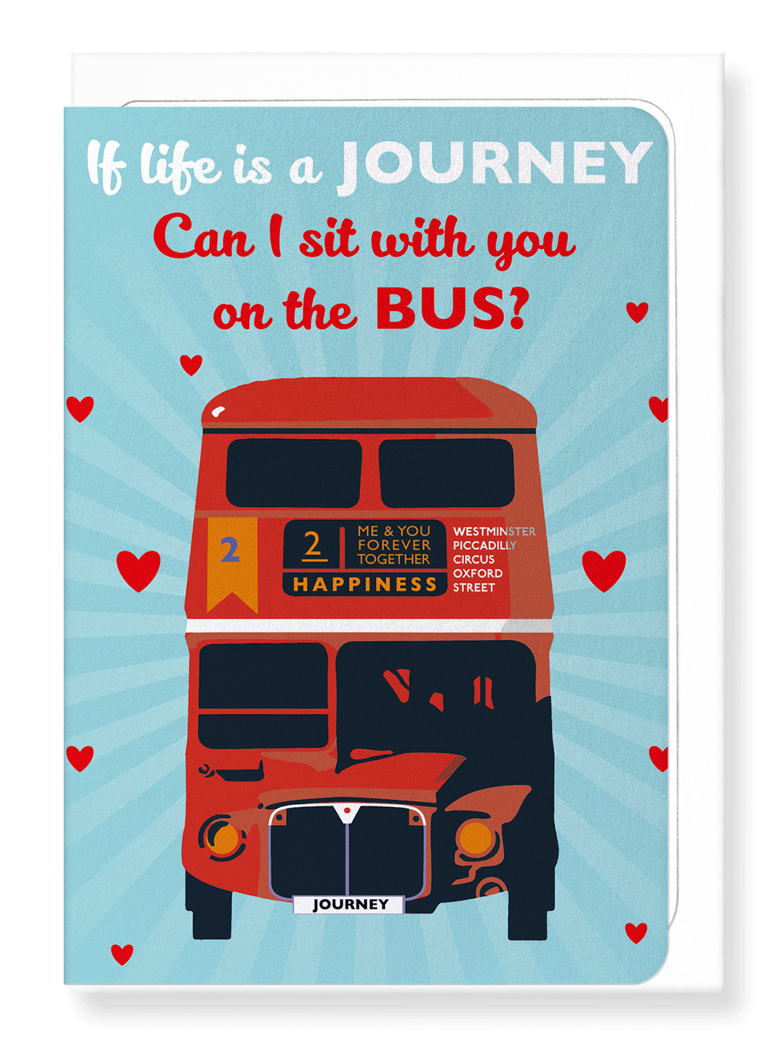 Ezen Designs - If life is a journey - Greeting Card - Front