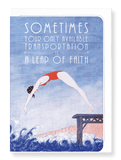 Ezen Designs - A leap of faith - Greeting card - Front