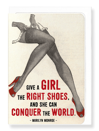 Ezen Designs - Girls and shoes - Greeting Card - Front