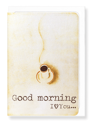Ezen Designs - Morning coffee - Greeting card - Front