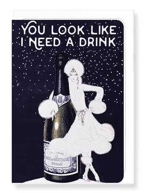 Ezen Designs - Another drink - Greeting card - Front