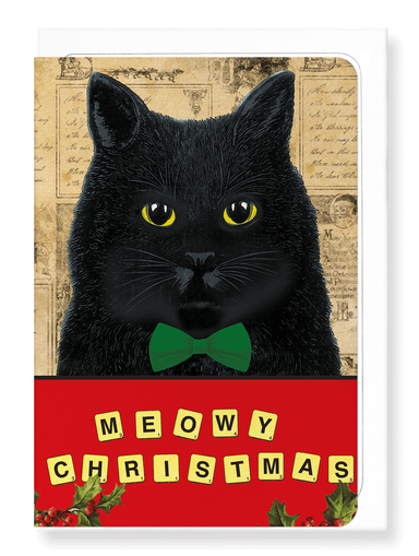 Ezen Designs - Meowy christmas - Greeting Card - Front