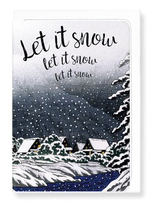 Ezen Designs - Let it snow - Greeting card - Front
