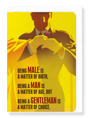 Ezen Designs - Being a gentleman is a choice - Greeting card - Front