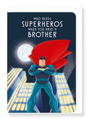 Ezen Designs - Brother over superhero - Greeting card - Front