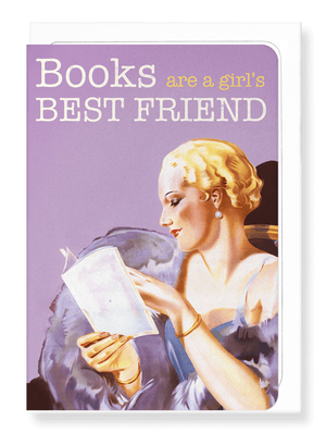 Ezen Designs - Books are a girl's best friend - Greeting card - Front