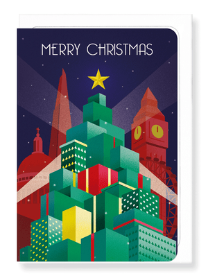 Ezen Designs - Christmas deco city - Greeting card - Front