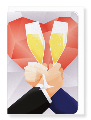 Ezen Designs - Toast of Mr & Mr - Greeting card - Front