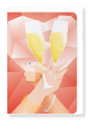 Ezen Designs - Toast of Mrs & Mrs - Greeting card - Front