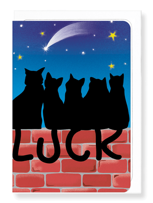 Ezen Designs - Lucky black cats - Greeting card - Front