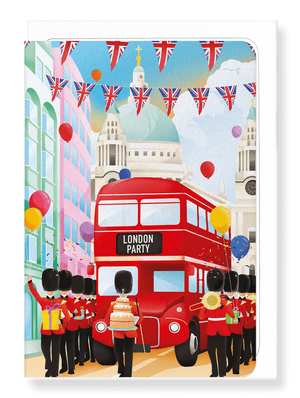 Ezen Designs - British street party - Greeting card - Front