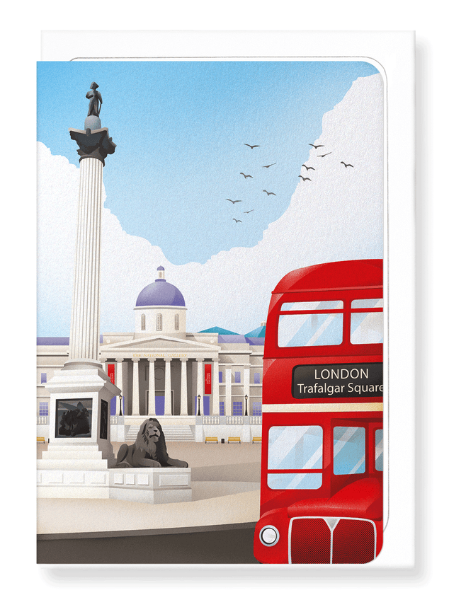 Ezen Designs - National gallery and bus - Greeting Card - Front