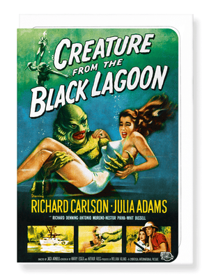 Ezen Designs - Creature from the black lagoon (1954) - Greeting Card - Front
