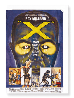 Ezen Designs - X: The man with the x-ray eyes (1963) - Greeting Card - Front