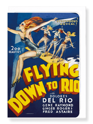 Ezen Designs - Flying down to rio (1933) - Greeting Card - Front