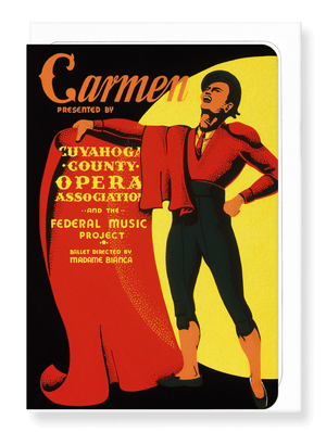 Ezen Designs - Carmen poster (1939) - Greeting Card - Front