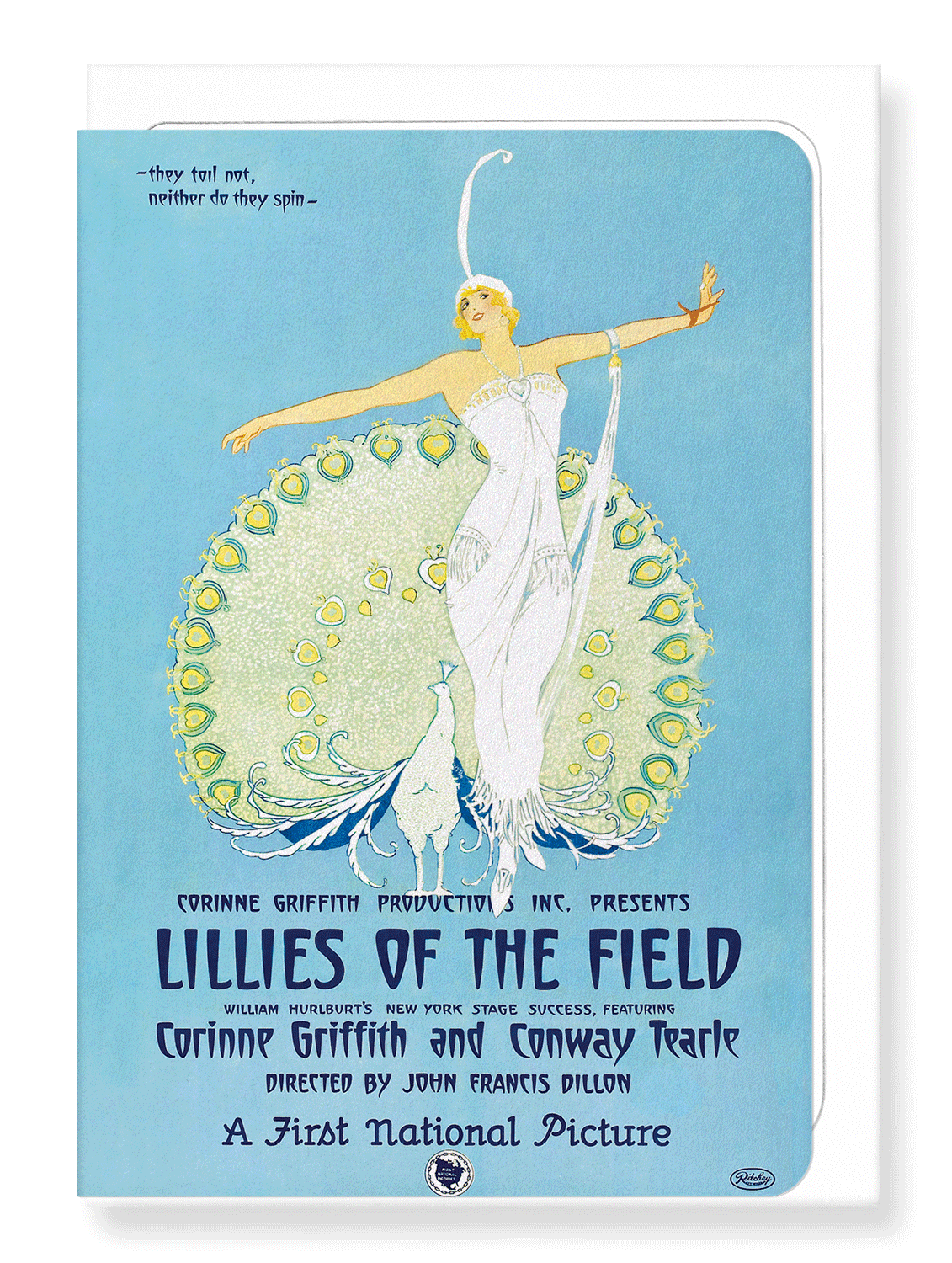 Ezen Designs - Lilies of the field (1924) - Greeting Card - Front