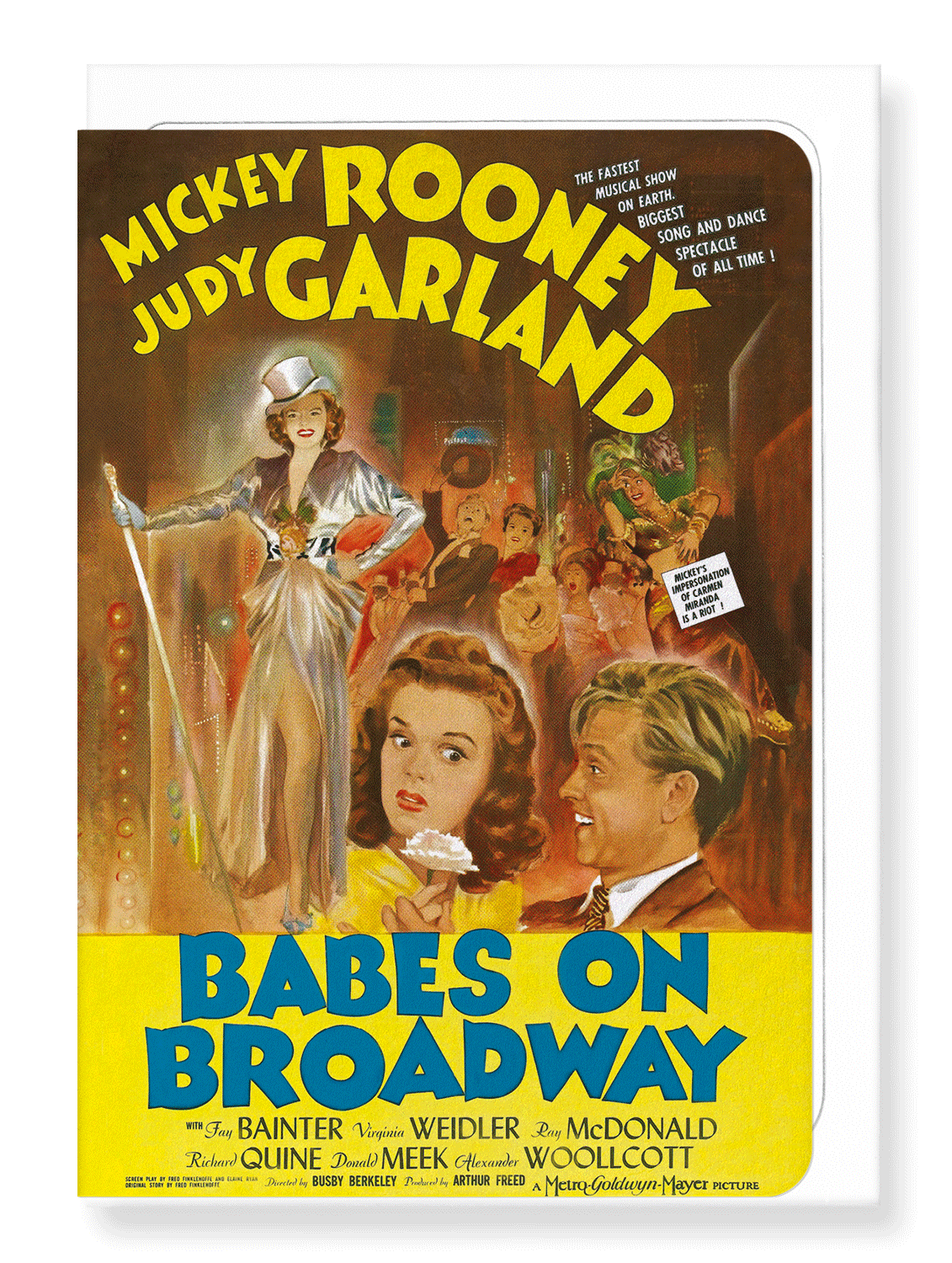 Ezen Designs - Babes on broadway (1941) - Greeting Card - Front